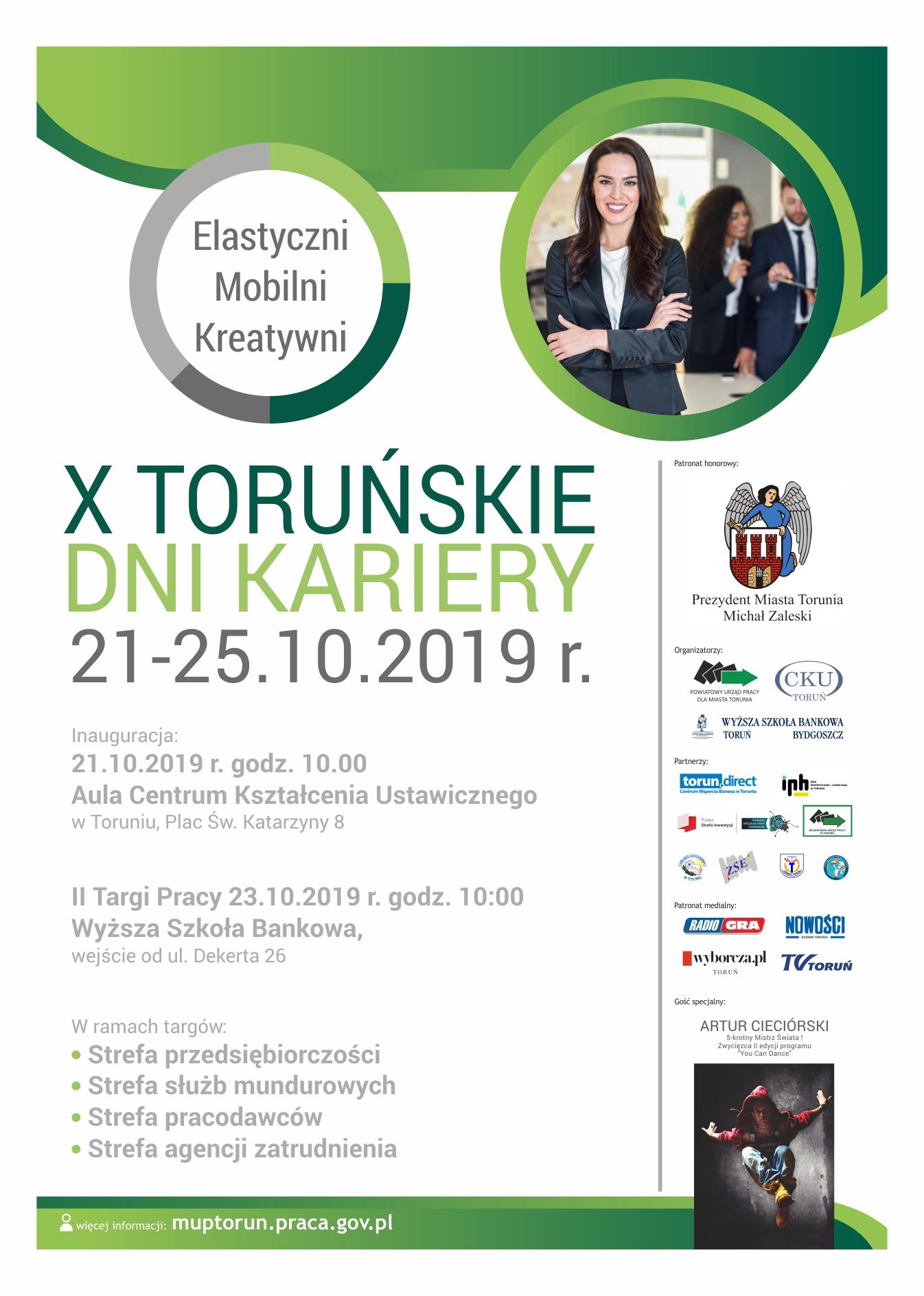Plakat II Targów Pracy w Toruniu